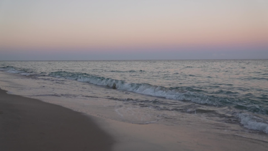 Waves moving in slow motion during sunset. On the beach in Fort Lauderdale, Florida.  | Shutterstock HD Video #1069179544