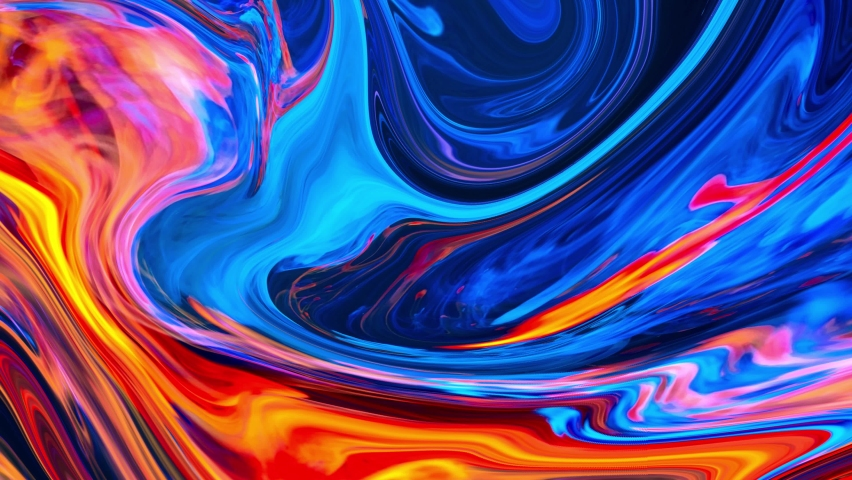 4K. Colorful abstract liquid marble texture, fluid art. Very nice abstract pink black design swirl background Video. 3D Rendering,    Shutterstock HD Video #1069187422