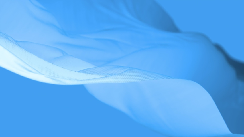 4k Wave satin fabric loop background.Wavy silk cloth fluttering in the wind.tenderness and airiness.3D digital animation of seamless flag waving ribbon streamer riband.  Royalty-Free Stock Footage #1069330921
