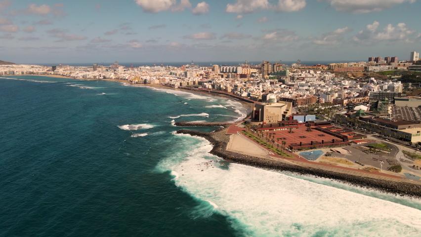 Aerial view on Las Palmas de Gran Canaria, Canary Islands, Spain | Shutterstock HD Video #1069341130