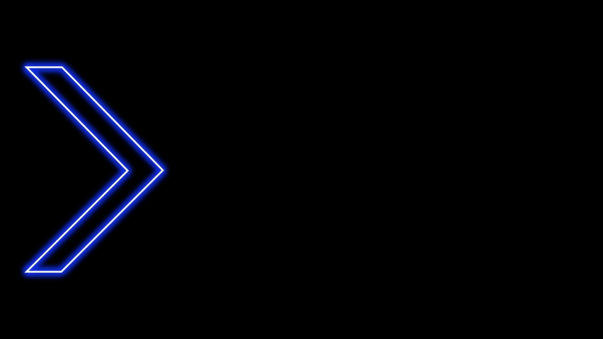 Animation of Glowing Neon Arrows. Looped Moving Arrows. Neon Sign Sparkling with Bright Lights. Seamless Loop 4K. Animation of Arrow Sign on Isolated Background.   Shutterstock HD Video #1069456129