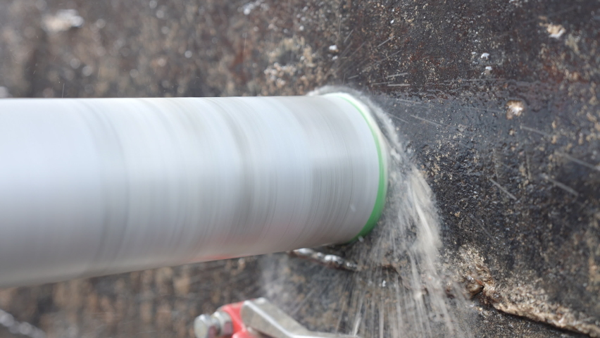 Core drilling with 100 fps slow motion | Shutterstock HD Video #1069614688