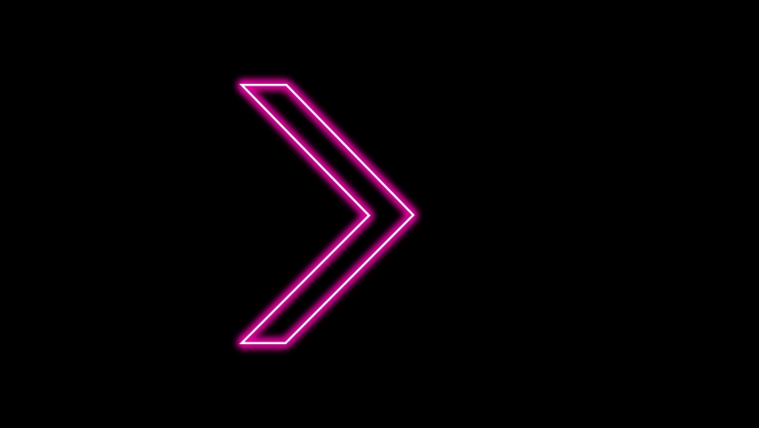 Animation of Glowing Neon Arrows. Looped Moving Arrows. Neon Sign Sparkling with Bright Lights. Seamless Loop 4K. Animation of Arrow Sign on Isolated Background.   Shutterstock HD Video #1069638475