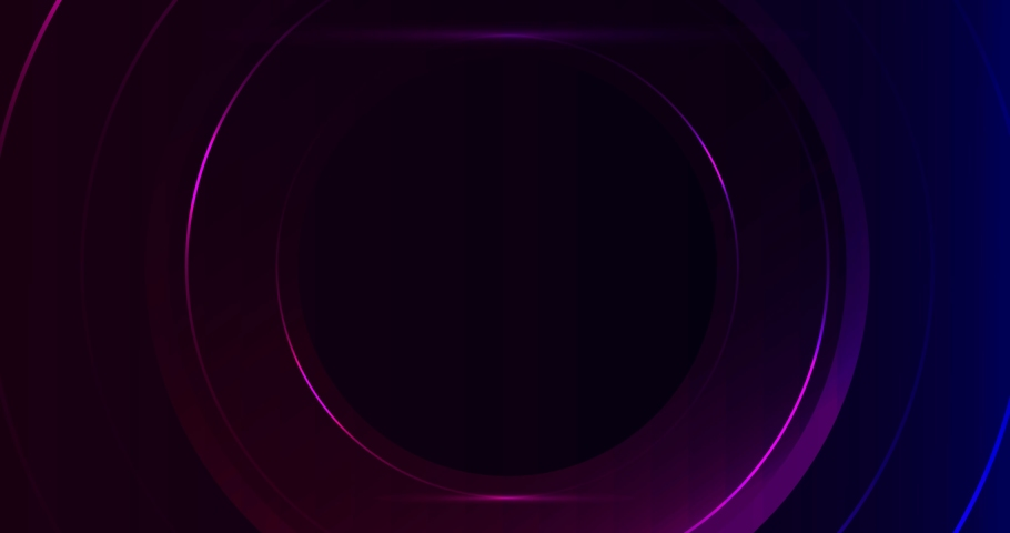 Purple and blue neon circles. Abstract seamless loop. Futuristic hi-tech motion background. Ultra HD 4K animation. | Shutterstock HD Video #1069680040