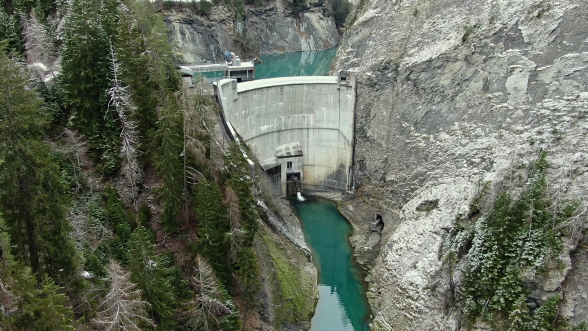 Chasm and power plant in swizerland | Shutterstock HD Video #1069774609