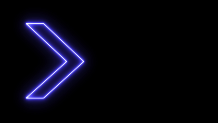 Neon sign Arrows Animation of pink light signal and blue spreading from the center with a black background. Can be used to compose various media such as news, presentations, online media, social media.   Shutterstock HD Video #1069884103