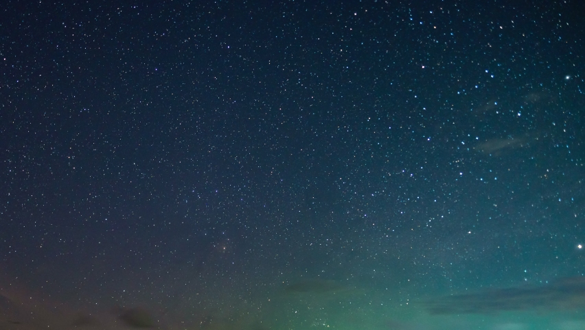 Time lapse Milky way galaxy stars Night to day Timelapse seen in Phangnga Thailand Beautiful Nature in the night sky 24 FPS. 4K  | Shutterstock HD Video #1069903906