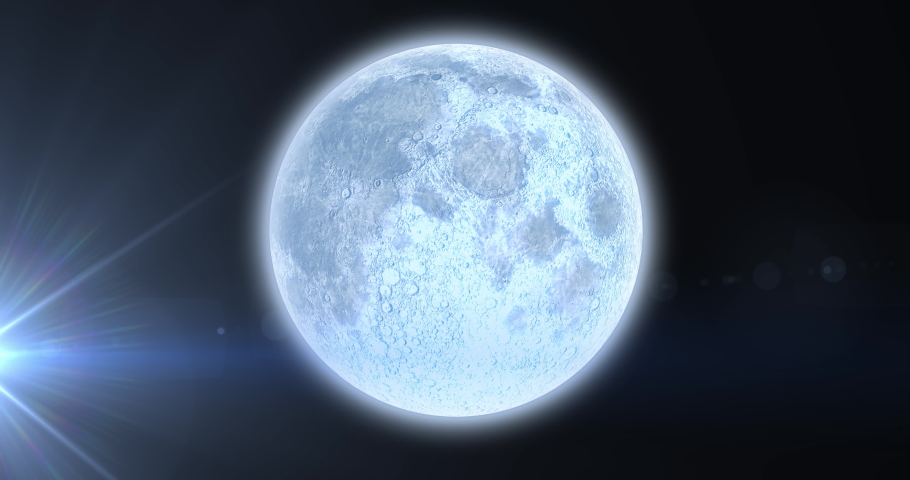 Animation of planet earth with glowing spot of light on blue background. astronomy, science and technology concept digitally generated video. | Shutterstock HD Video #1069946518