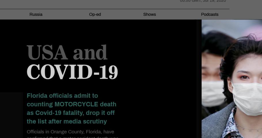 Viral Covid-19. Deadly coronavirus coverage. Seamless loop background. Zoom word closeup. News concept keyword. Alert. Fear. Corona virus. Panic danger headline. Close-up highlight text. Health care. Royalty-Free Stock Footage #1069993507