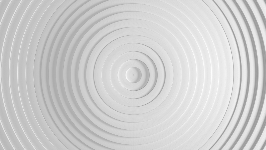 White minimalism Abstract pattern of circles with the effect of displacement. White clean rings animation. Abstract background for business presentation. Seamless loop 4k Top view | Shutterstock HD Video #1070049478