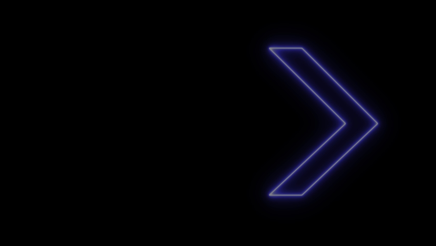 Neon sign Arrows Animation of pink light signal and blue spreading from the center with a black background. Can be used to compose various media such as news, presentations, online media, social media   Shutterstock HD Video #1070050981