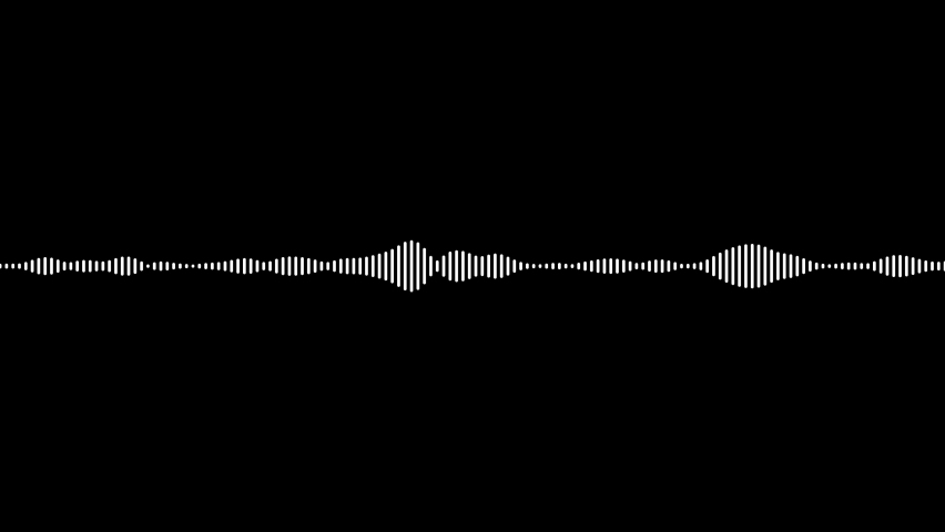 Minimalist wave form Audio. Isolated on transparent background. Animation of seamless loop. Royalty-Free Stock Footage #1070145781