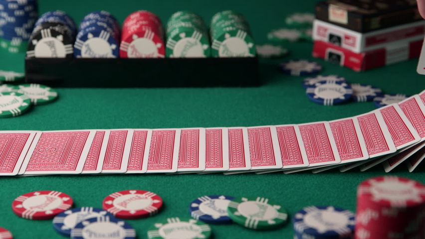 Shuffle Poker Cards - Card Trick | Shutterstock HD Video #1070306413