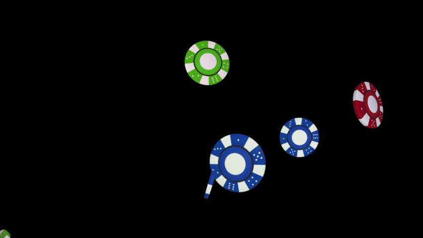 Red and Blue poker chips falling loop animation 4K 3D Alpha Green Screen loop Animation. Blackjack, Table, Gambling Chips, Jackpot, Betting, Playing, Card Game, Casino, Fireplace Poker, Money, Luck | Shutterstock HD Video #1070332747