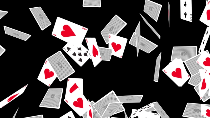 Playing cards fall down 4K 3D Alpha Green Screen loop Animation. Card game, casino or gambling scene. Casino, Chips, Poker, Blackjack, Ace, Betting, Gaming, Black jack, Luck, Jack, Win, King, Queen, | Shutterstock HD Video #1070332750