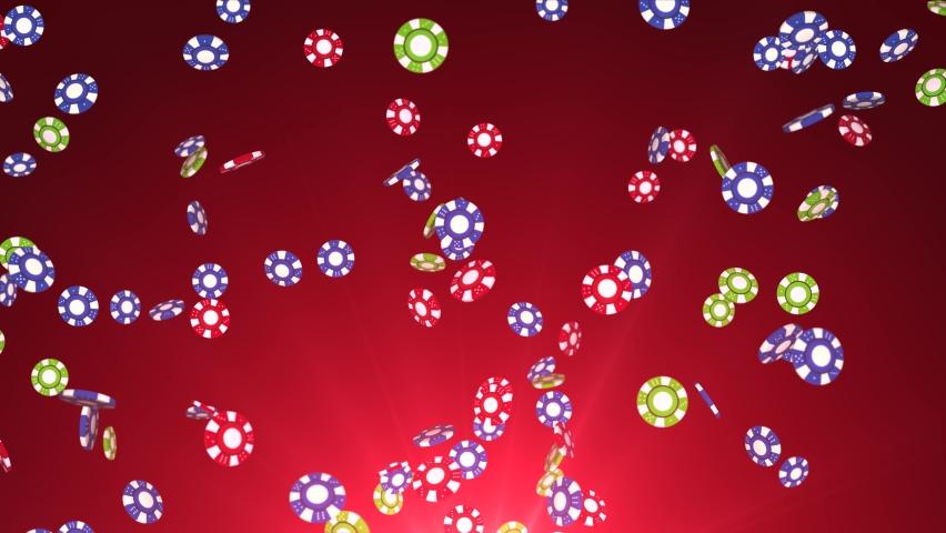 Pocker Chips falling Rain with dramatic lighting Winner 4K 3D Alpha Green Screen loop Animation. Gambling, Blackjack, Chips, Jackpot, Betting, Playing, Card Game, Casino, Fireplace , Money, Luck | Shutterstock HD Video #1070469700