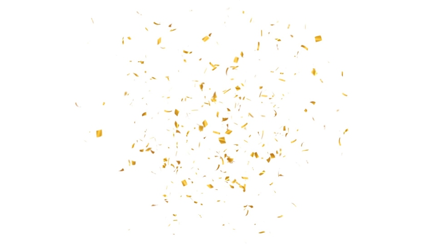 Gold Confetti Explosions Pack on a White Background with Luma Matte Channel. Royalty-Free Stock Footage #1070576065