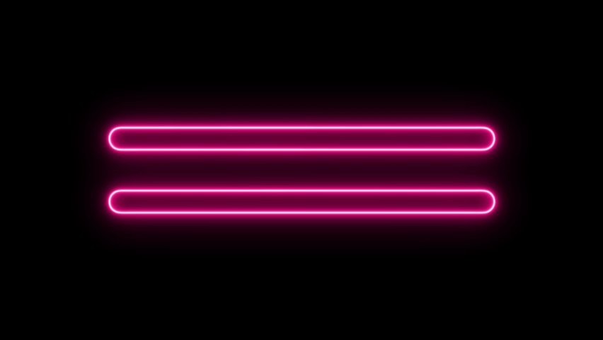 Linear neon animation of pink round rectangles on black background. Motion graphic, 4K video | Shutterstock HD Video #1070595595