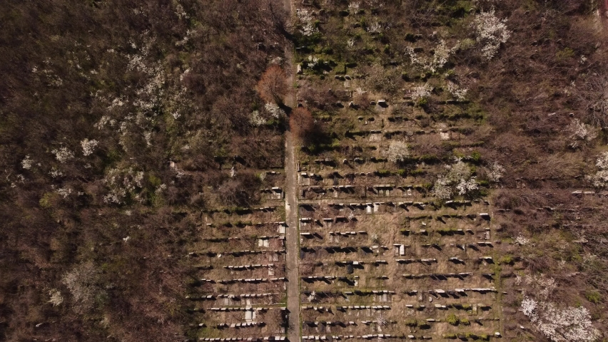 Top View Of Abandoned Cemetery | Shutterstock HD Video #1070714998