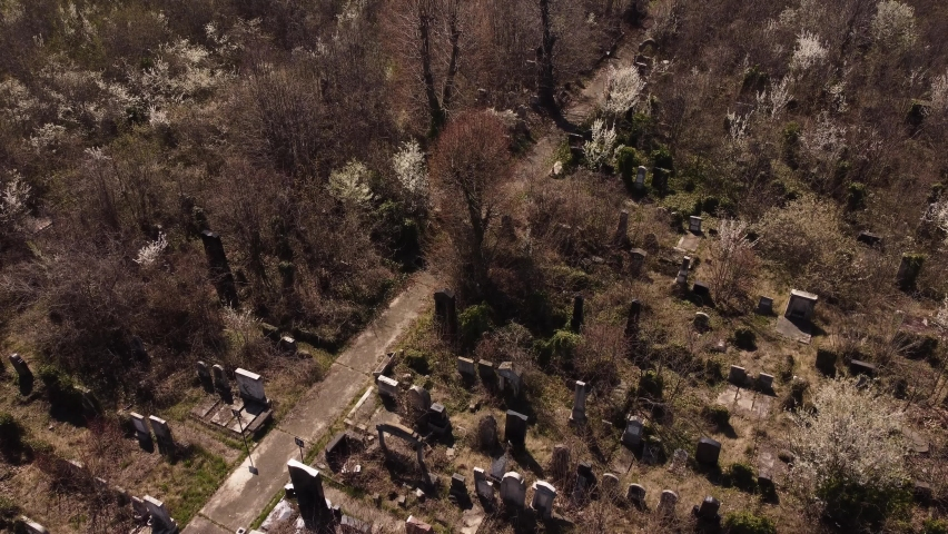 Old And Abandoned Cemetery, Halloween Theme | Shutterstock HD Video #1070715001