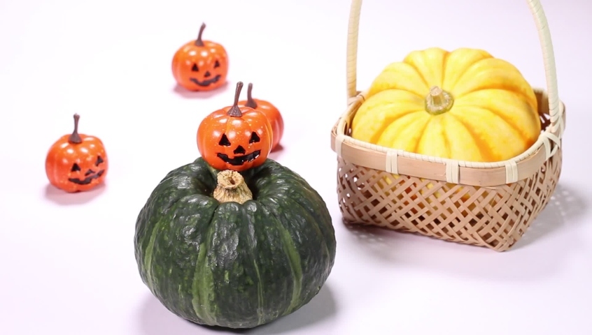 Halloween image, Mini pumpkin and pumpkin ornament | Shutterstock HD Video #1070724190
