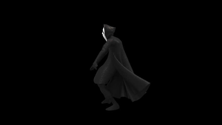 Halloween day. Ghost character bone dancing. 3d rendering, realistic CGI,3d mapping cartoon, Included in the end of the clip with Alpha matte. | Shutterstock HD Video #1070765413