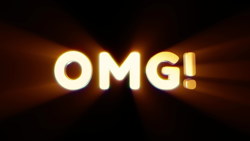 Word omg in 3d cartoon style. Design text element for game, branding. Flying and rotating object. Bright dynamic animation on simple background. | Shutterstock HD Video #1070782933