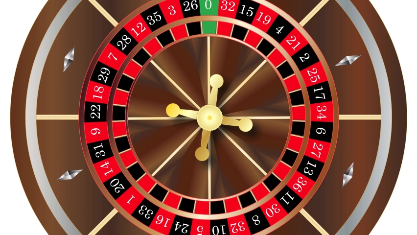 Moving Casino Roulette Wheel Close Up With A Spinning Ball | Shutterstock HD Video #1070784208