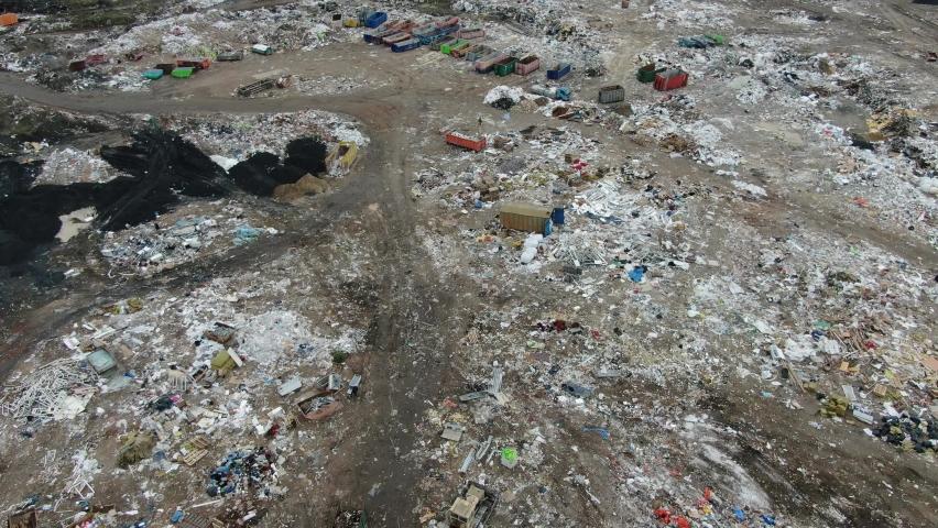 City garbage dump in Kiev, Ukraine | Shutterstock HD Video #1070788159