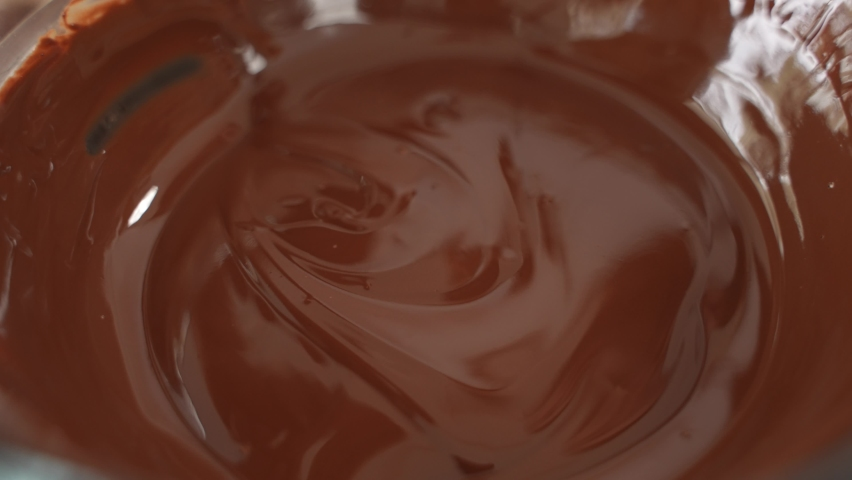 Dropping Healthy Outmeal Snack into Bowl of Chocolate, Slow Motion, Close Up | Shutterstock HD Video #1070791981