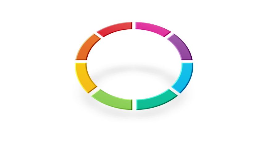 Circular colorful arrow concept isolated | Shutterstock HD Video #1070797075