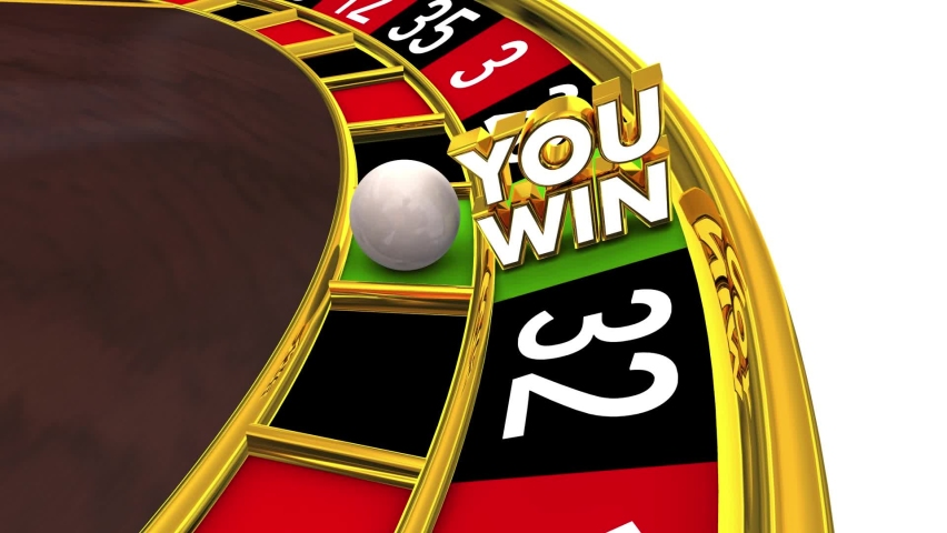 You Win Roulette Wheel Lucky Spin Casino Game Winner Gamble 3d Animation | Shutterstock HD Video #1070957125
