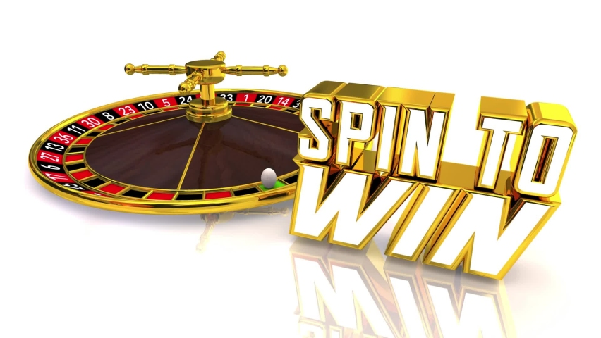 Spin to Win Roulette Wheel Lucky Number Winner Gamble Bet 3d Illustration | Shutterstock HD Video #1070958229