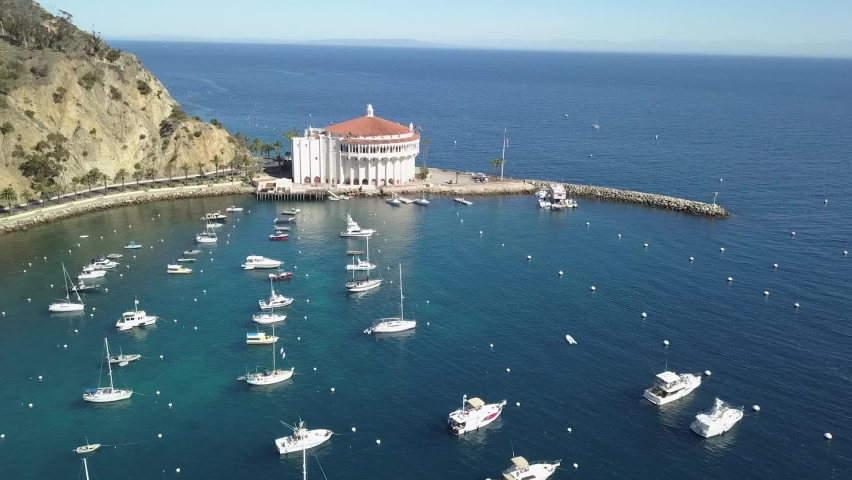 Catalina island Avalon California Aerial | Shutterstock HD Video #1070984674
