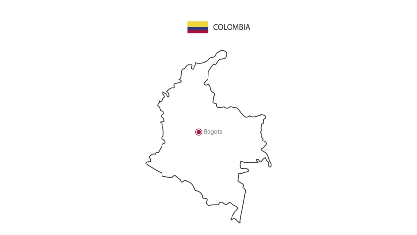 Motions point of Bogotá Capital with Colombia flag and Colombia map. | Shutterstock HD Video #1071015364