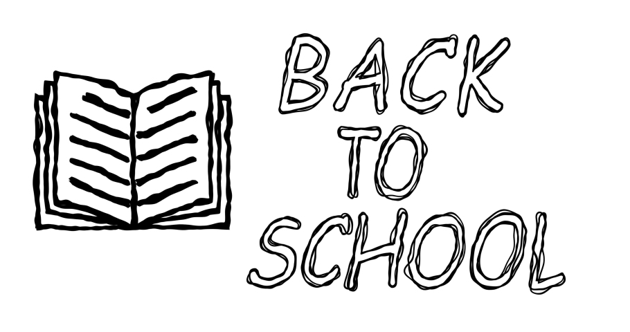 Book and back to school message in doodle style. Simple cartoon text written in black marker. Educational Concept. Looped 4K video animation graphics with alpha channel | Shutterstock HD Video #1071017098