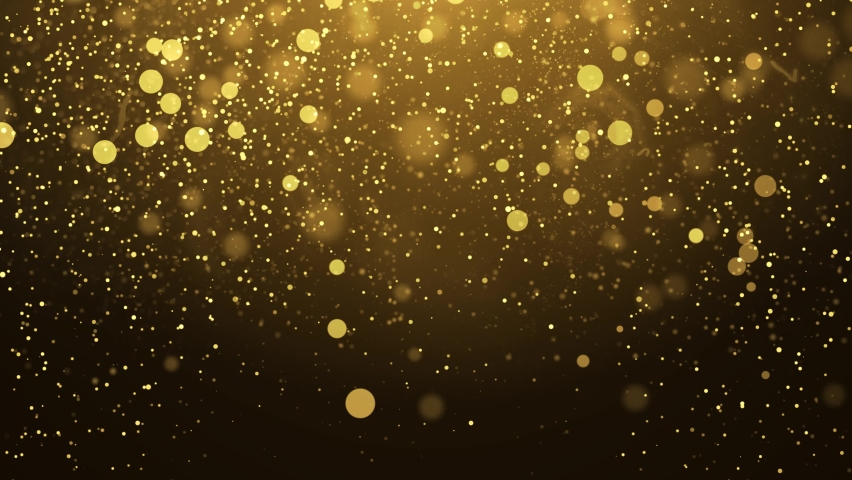 4K gold particles awards backgrond is a motion graphics. The luxurious gold particles keep moving forward, the golden particle stripes are rising, perfect for awards, movies, weddings and openers. Royalty-Free Stock Footage #1071039772
