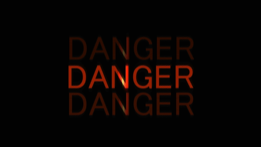 Danger Sign motion text video clip. New 3D animation logo opening design. | Shutterstock HD Video #1071143014