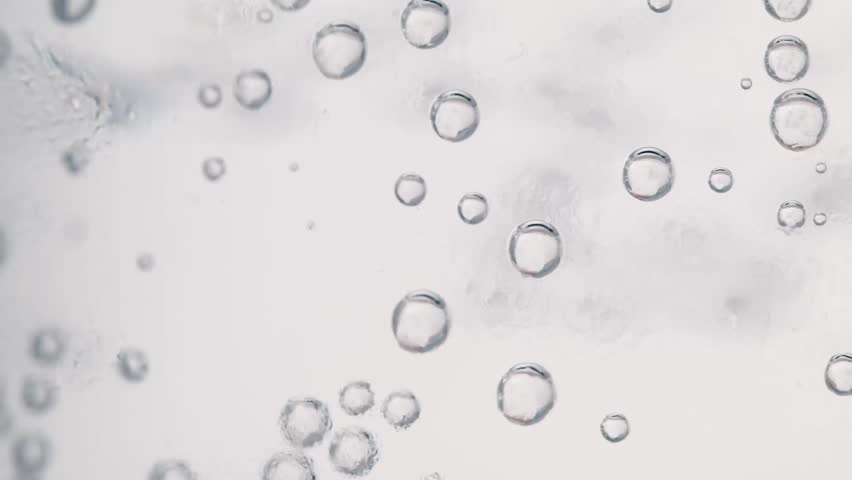 Gas bubbles in the glass walls of a super close-up | Shutterstock HD Video #10712939