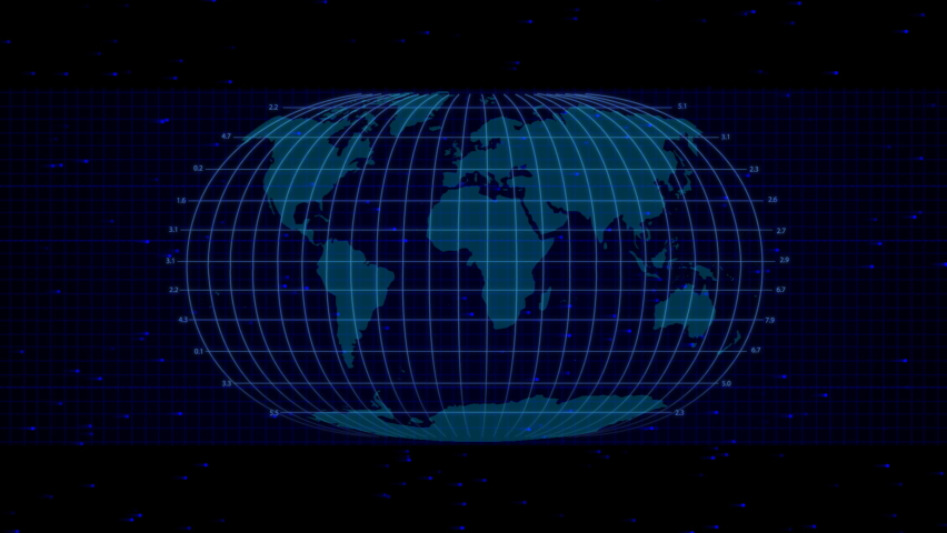This motion graphic shows a scan of the world map. | Shutterstock HD Video #1071317020