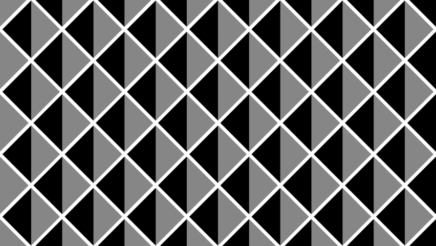 Looped motion. Black and white optical illusion. Psychedelic hypnotic transformation. Black and white graphics. Op Art  video. Looping animation footage for design. Animated geometric 3D pattern. 4K