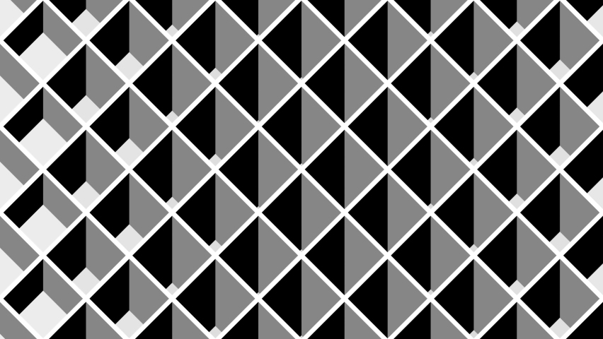 Looped motion. Black and white optical illusion. Psychedelic hypnotic wave transformation. Black and white. Op Art  video. Looping animation footage for design. Animated geometric 3D pattern. 4K