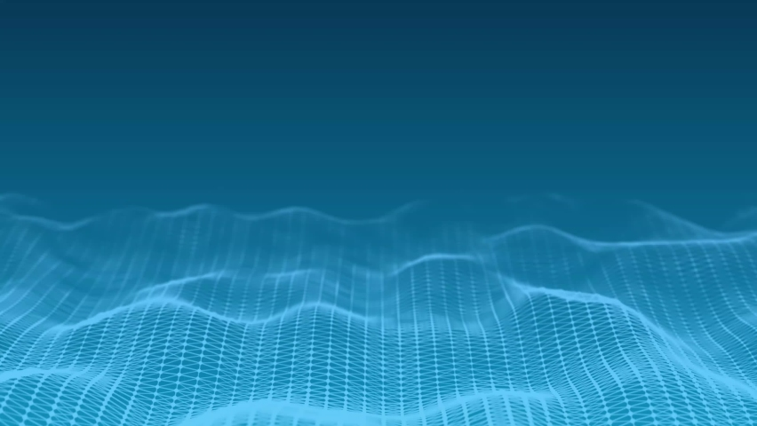 Dynamic wave. Digital technology background. Big data visualization. Science background. 3d rendering. Seamless loop. 4k Royalty-Free Stock Footage #1071787861
