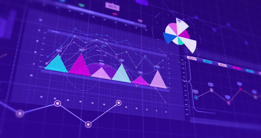 3D Animation Of Business Graphs And Charts. Stock Market And Economy Related 4K Concept.  Royalty-Free Stock Footage #1071938680