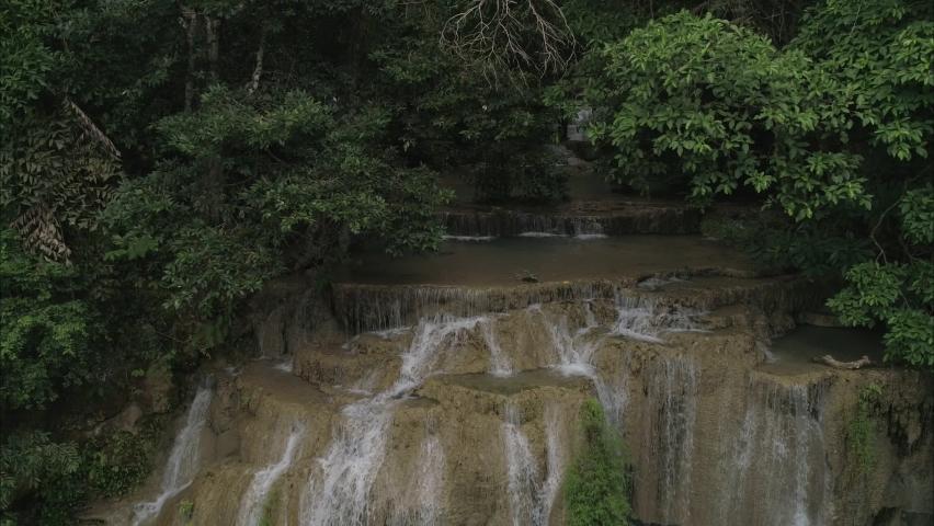 Erawan waterfall national park in Kanchanaburi Thailand