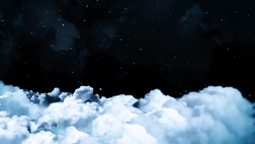 Blue sky white clouds. Puffy fluffy white clouds. Cumulus cloud scape timelapse. Summer blue sky time lapse. Dramatic majestic amazing blue sky. Soft white clouds form. Cloud time lapse background .