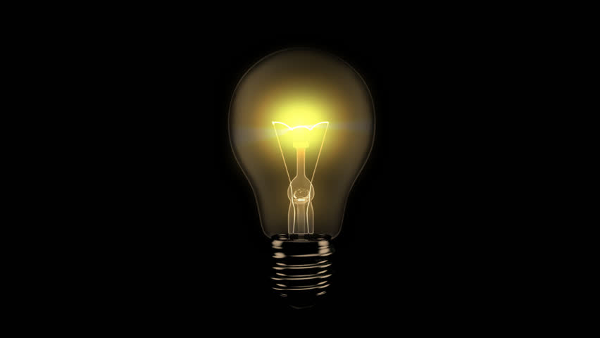 Light Bulb Turning On - Alpha | Shutterstock HD Video #10724396