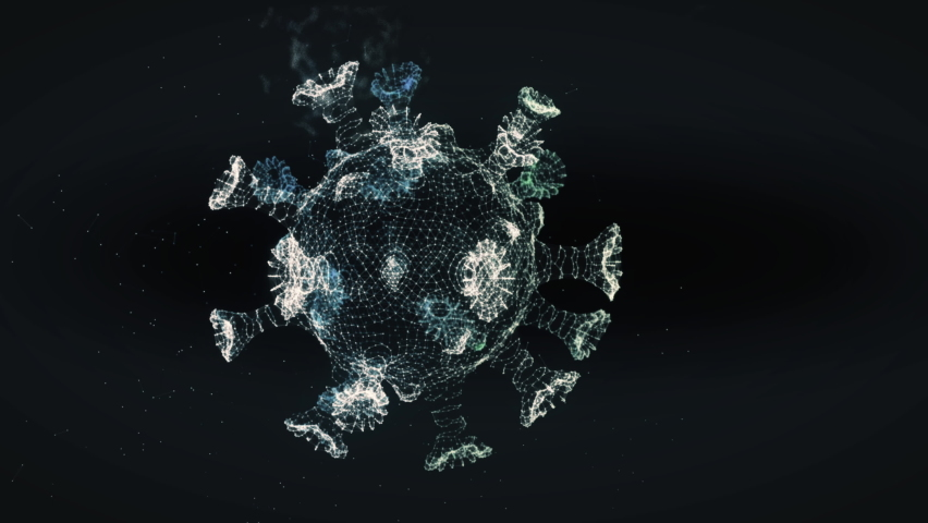 Medical Research Software is studying the structure of Sars Cov 2. Analyzing the Sars Cov 2 Cells. Molecular Examination of the newest stamm of Sars Cov 2 virus. Vaccine Creation Process. Interface. | Shutterstock HD Video #1073497292