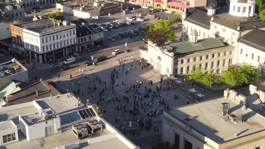 Kingston , ON , Canada - 06 10 2021: London Ontario attack vigil in Kingston Ontario Canada