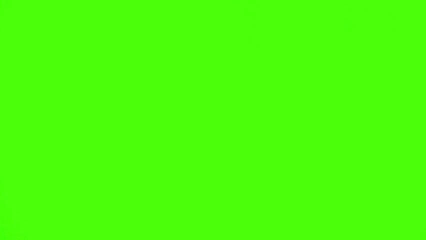 Dark-haired woman putting on a scarf against a green screen #1074346